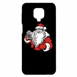 Чехол для Xiaomi Redmi Note 9S/9Pro/9Pro Max Santa Claus with beer