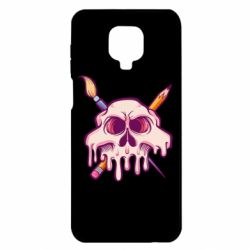 Чехол для Xiaomi Redmi Note 9S/9Pro/9Pro Max Skull with brush and pencil