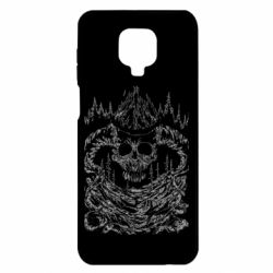 Чехол для Xiaomi Redmi Note 9S/9Pro/9Pro Max Skull with horns in the forest