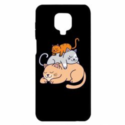 Чехол для Xiaomi Redmi Note 9S/9Pro/9Pro Max Sleeping cats