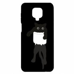 Чехол для Xiaomi Redmi Note 9S/9Pro/9Pro Max The cat tore the pocket