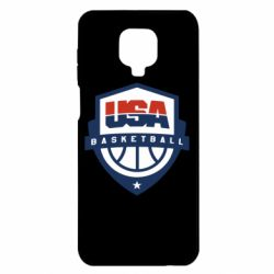 Чехол для Xiaomi Redmi Note 9S/9Pro/9Pro Max USA basketball