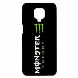 Чехол для Xiaomi Redmi Note 9S/9Pro/9Pro Max Вертикальный Monster Energy