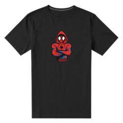 Чоловіча стрейчева футболка Людина павук в толстовці