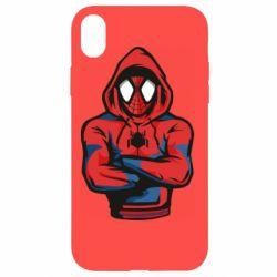 Чохол для iPhone XR Людина павук в толстовці