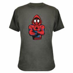 Камуфляжна футболка Людина павук в толстовці