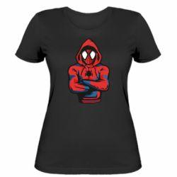 Жіноча футболка Людина павук в толстовці
