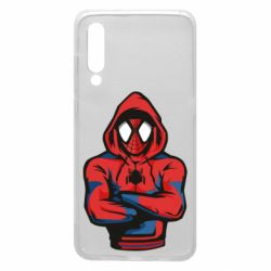 Чехол для Xiaomi Mi9 Человек паук в толстовке