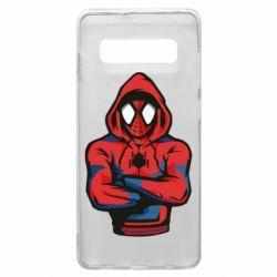 Чохол для Samsung S10+ Людина павук в толстовці