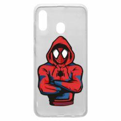 Чохол для Samsung A20 Людина павук в толстовці