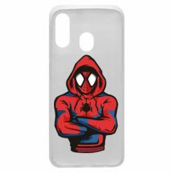 Чохол для Samsung A40 Людина павук в толстовці