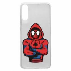 Чохол для Samsung A70 Людина павук в толстовці
