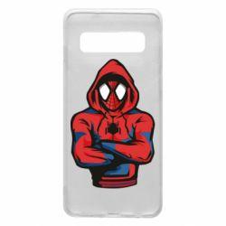 Чохол для Samsung S10 Людина павук в толстовці