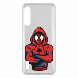 Чохол для Xiaomi Mi A3 Человек паук в толстовке
