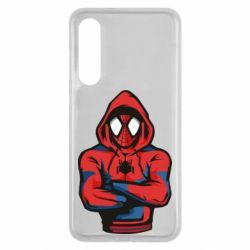 Чехол для Xiaomi Mi9 SE Человек паук в толстовке