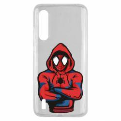 Чехол для Xiaomi Mi9 Lite Человек паук в толстовке