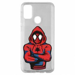 Чохол для Samsung M30s Людина павук в толстовці