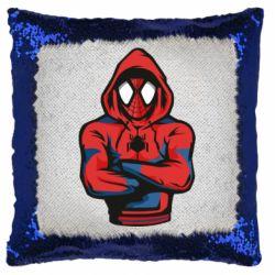 Подушка-хамелеон Людина павук в толстовці