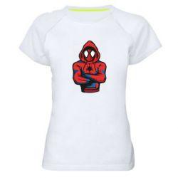 Жіноча спортивна футболка Людина павук в толстовці
