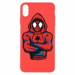 Чохол для iPhone X/Xs Людина павук в толстовці