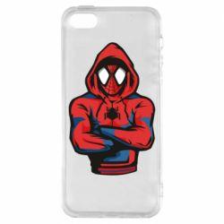 Чохол для iphone 5/5S/SE Людина павук в толстовці