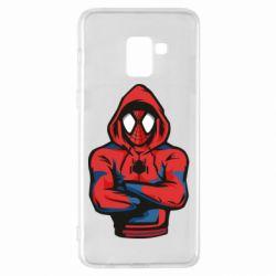 Чохол для Samsung A8+ 2018 Людина павук в толстовці