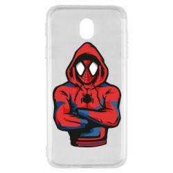 Чохол для Samsung J7 2017 Людина павук в толстовці