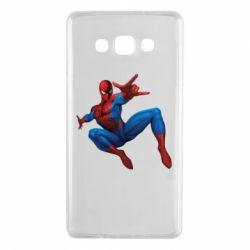 Чехол для Samsung A7 2015 Человек Паук - FatLine