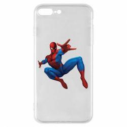 Чехол для iPhone 7 Plus Человек Паук - FatLine