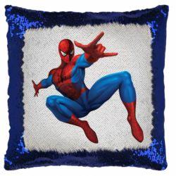 Подушка-хамелеон Людина павук