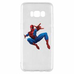 Чехол для Samsung S8 Человек Паук - FatLine