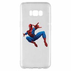 Чехол для Samsung S8+ Человек Паук - FatLine