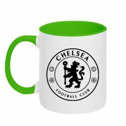 Кружка двоколірна 320ml Chelsea Club