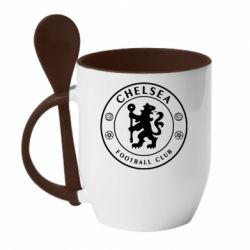 Кружка з керамічною ложкою Chelsea Club