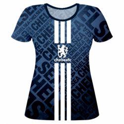 Купить Челси (Chelsea), Женская 3D футболка Chelsea FC, FatLine