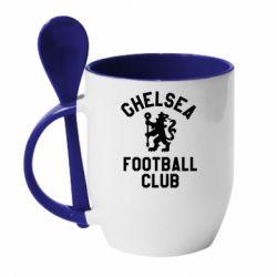 Кружка з керамічною ложкою Chelsea Football Club