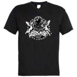 Мужская футболка  с V-образным вырезом Chemodan Clan Angels - FatLine