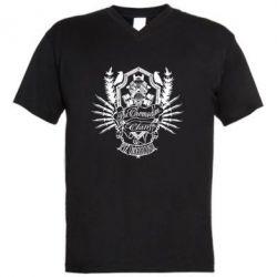 Мужская футболка  с V-образным вырезом Chemodan Clan PTZ Underground - FatLine