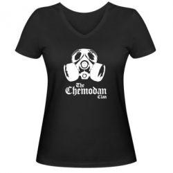 Женская футболка с V-образным вырезом Chemodan - FatLine