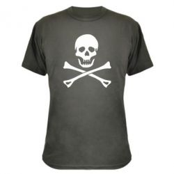 Камуфляжная футболка Череп и кости
