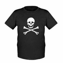 Детская футболка Череп и кости