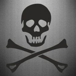 Наклейка Череп и кости