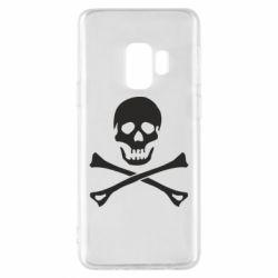 Чохол для Samsung S9 Череп та кістки