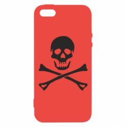 Чохол для iphone 5/5S/SE Череп та кістки
