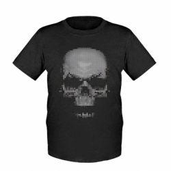 Детская футболка Череп из пикселей - FatLine