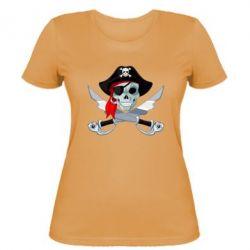 Женская футболка Череп пирата