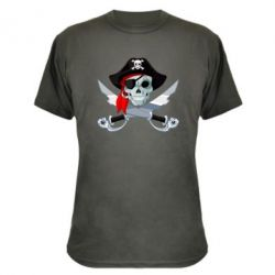 Камуфляжная футболка Череп пирата