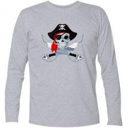 Футболка с длинным рукавом Череп пирата