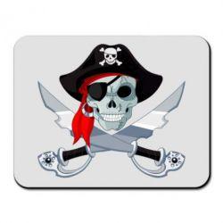 Коврик для мыши Череп пирата
