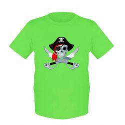 Детская футболка Череп пирата